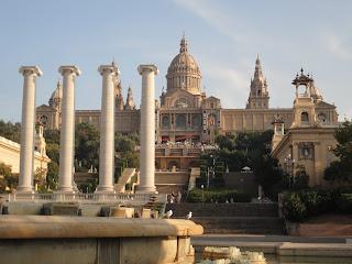 Musea Nacional Art de Catalunya. Prachtig uitzicht