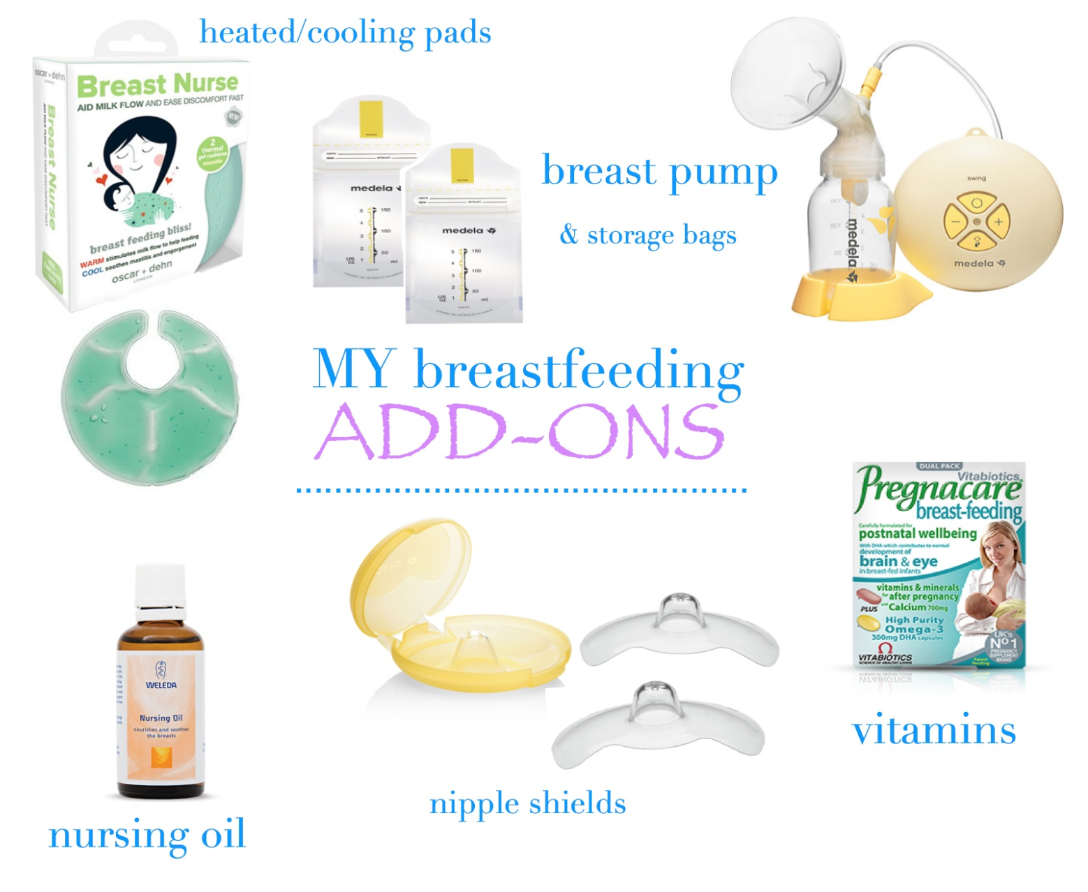 My Breast Feeding Essentials and some extras you may find useful! | breast feeding | breast pumps | medela | nipple cream | nursing cover | nursing oil | breast milk | breast nipple shields | pregnancy vitamins | nursing cushion | widgey cushions | blocked ducts | mamasVIB | lansinoh nipple cream | lansinoh pads | lansinoh | medela storage bangs | milk | breast milk | giselle | giselle breast feeding | model | supermodel | mama VIB