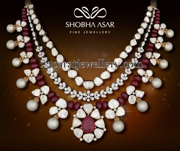 Ruby Beads Diamonds By Shobha Asar