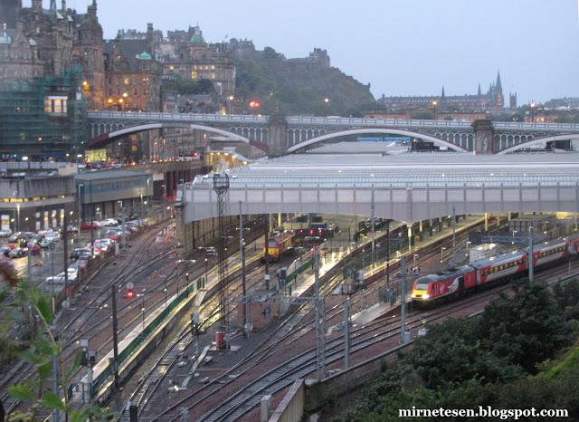 Эдинбург - вокзал Уэверли