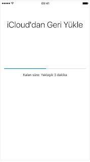 iphone geri yükleme