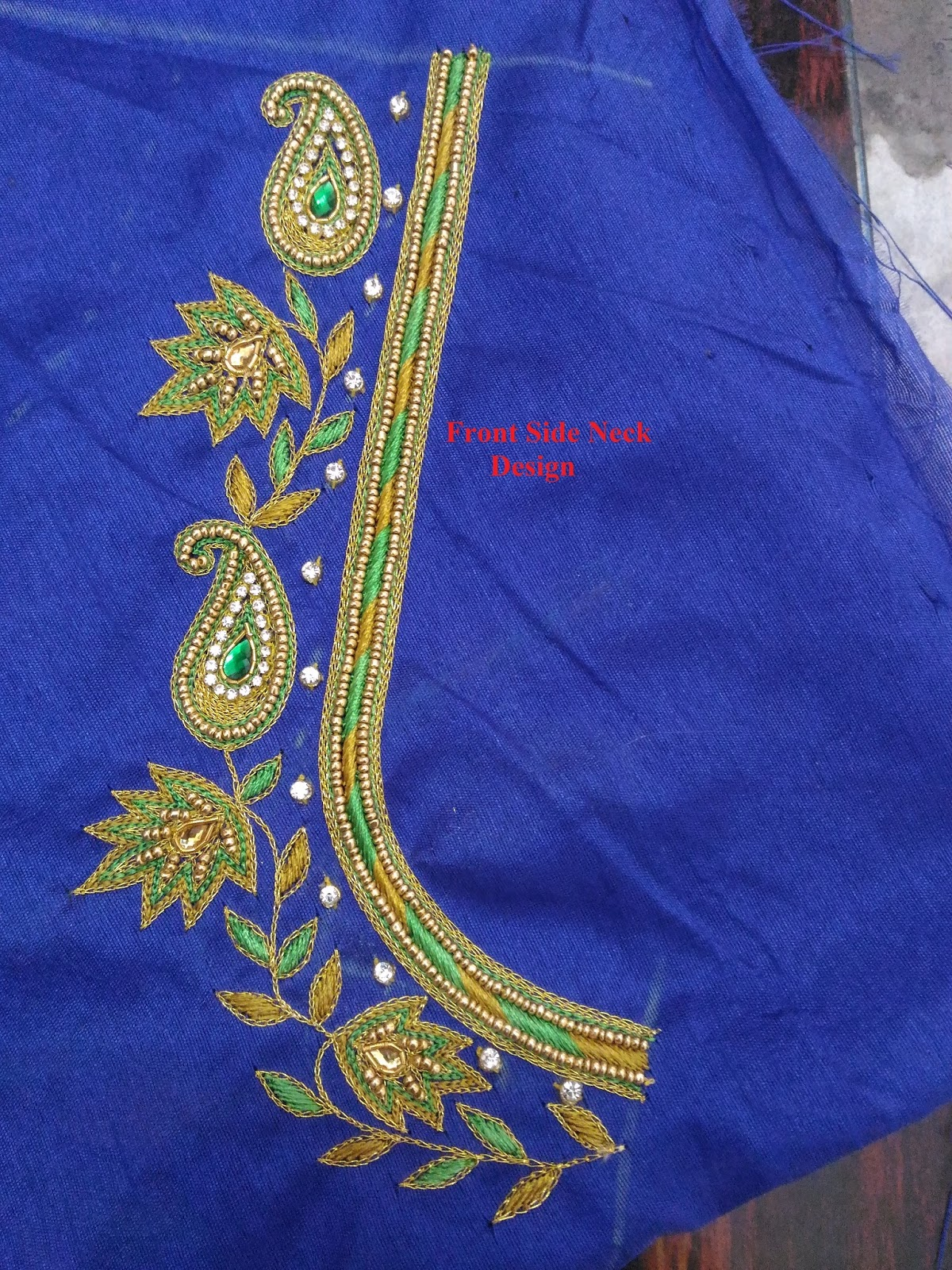 Indian traditional handloom sarees maggam work blouse