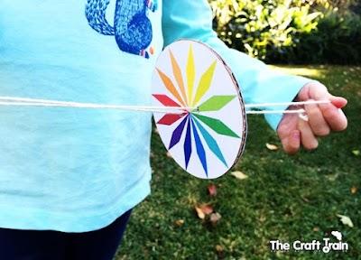 Cómo hacer un whirlygig Run-Run Imprimible infantil
