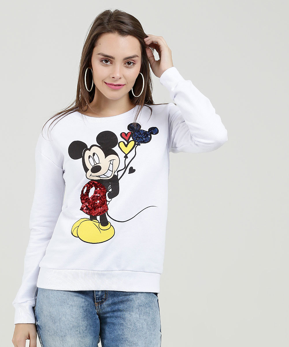 MOLETOM DO MICKEY BRANCO