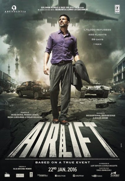 Poster Of Airlift 2016 480p 1CD DVDRip Hindi Full Movie Download