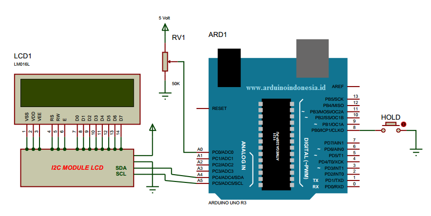 Membuat volt meter menggunakan arduino uno maks