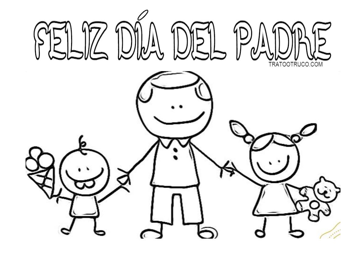 Dibujos para colorear día del padre | Trato o truco