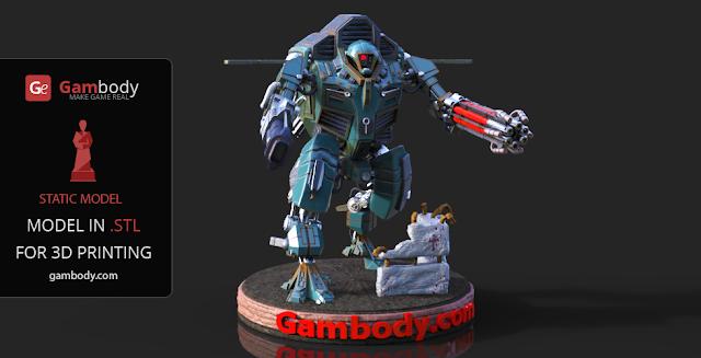 Warhammer40k TAU XV109 Y'Vahra 3D Printable model
