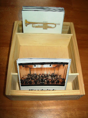 Orchestra instrument cards