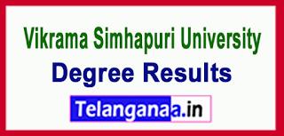 Vikrama Simhapuri University(VSU Nellore) Exam Results Download