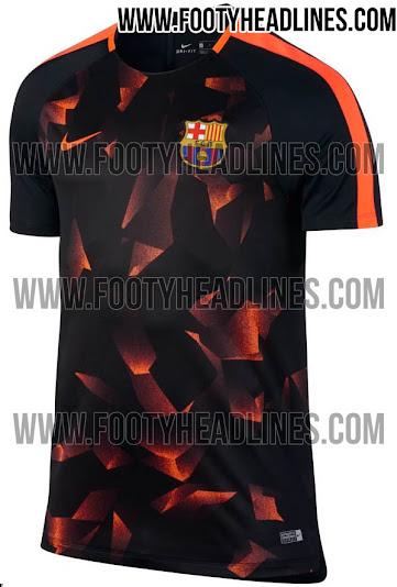 f70c617f938 Outstanding Nike FC Barcelona 17-18 Champions League Pre-Match Kit ...