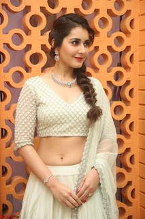 Raashi Khanan looks stunning in Crop Top Deep neck Choli Ghagra Transparent Chunni WOW ~  Exclusive Celebrities Galleries 093.JPG