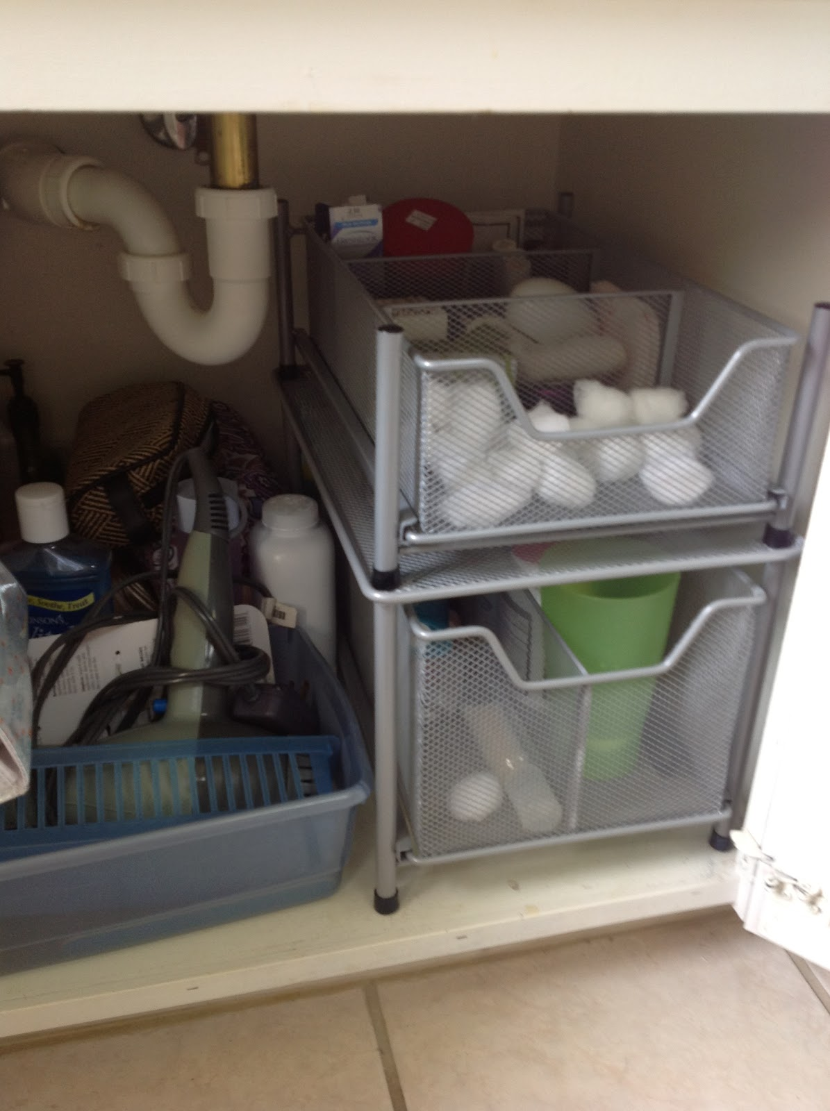 O Is For Organize.: Under The Bathroom Sink