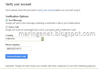 Membuat email Gmail, create Gmail Account