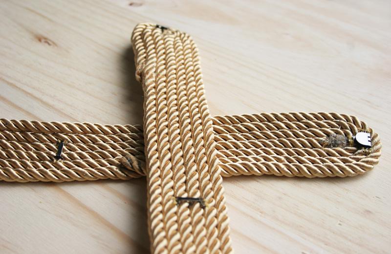 Decorar en familia _Diy cinturón de cordón de seda dorado4