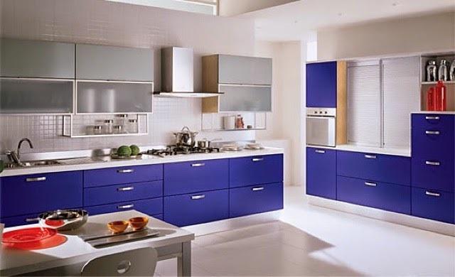 Cocinas de color azul cocina y reposteros decoraci n Fotos de cocina