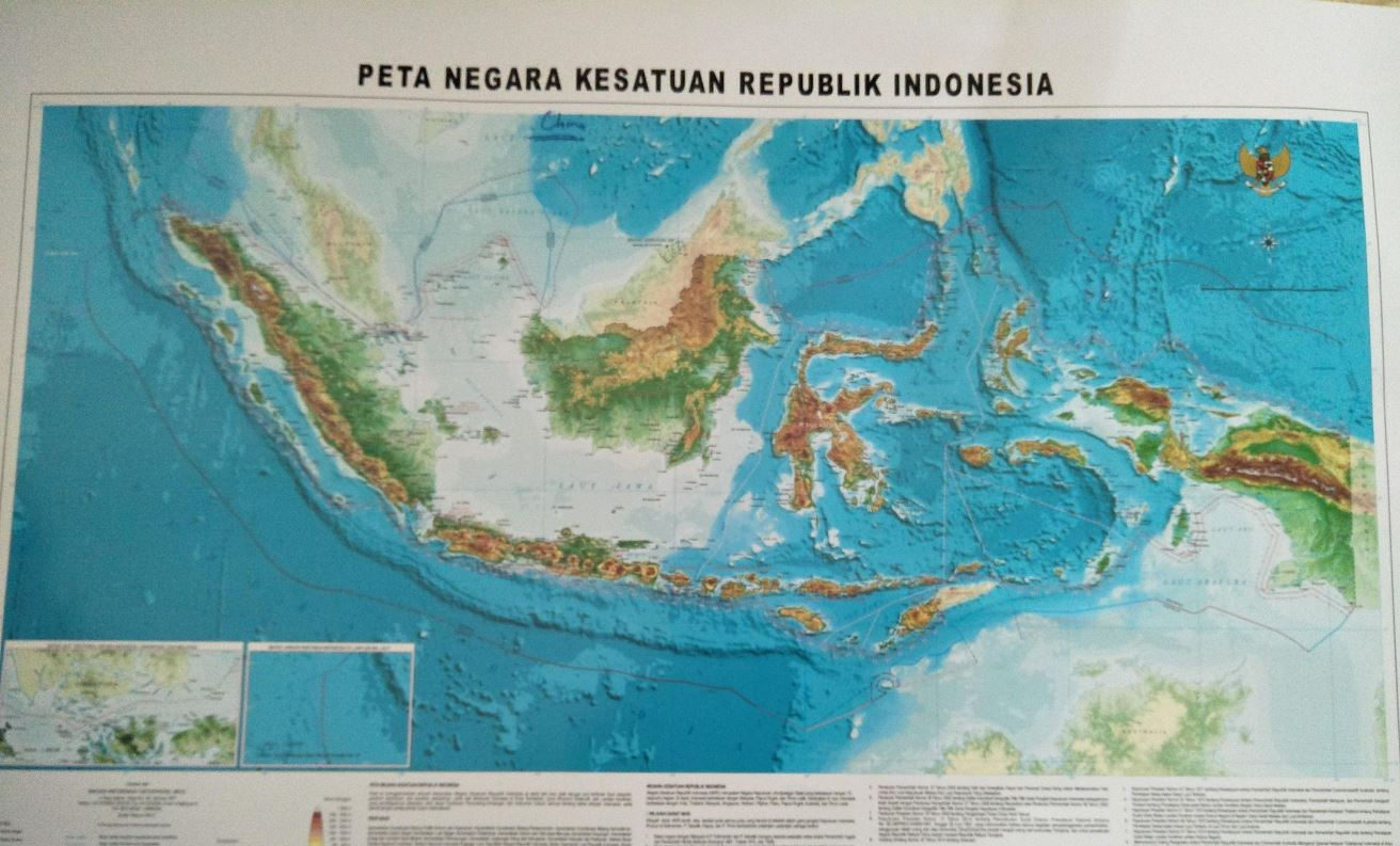 Peta baru NKRI dengan penamaan Laut Natuna Utara