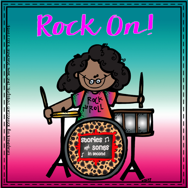 Students will love being learning rock stars wtth themed brag tags, classroom decor items, and literacy center activities!