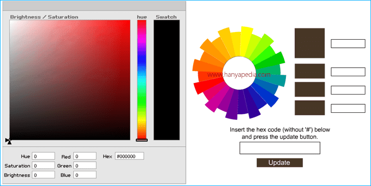 Membuat Tool Color Online di Blog HTML