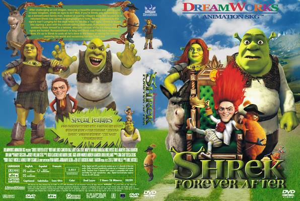 Shrek Forever After Shrek dvd cover