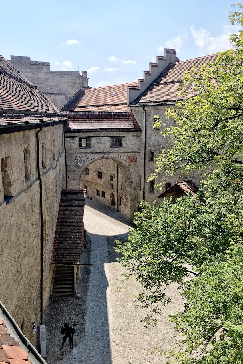 Der Innenhof der Hauptburg