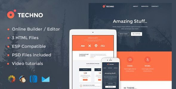 Tecno - Modern Email Template + Online Editor