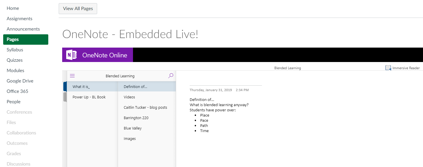 LiNC: Embedding OneNote directly into Canvas  (#lscanvas)