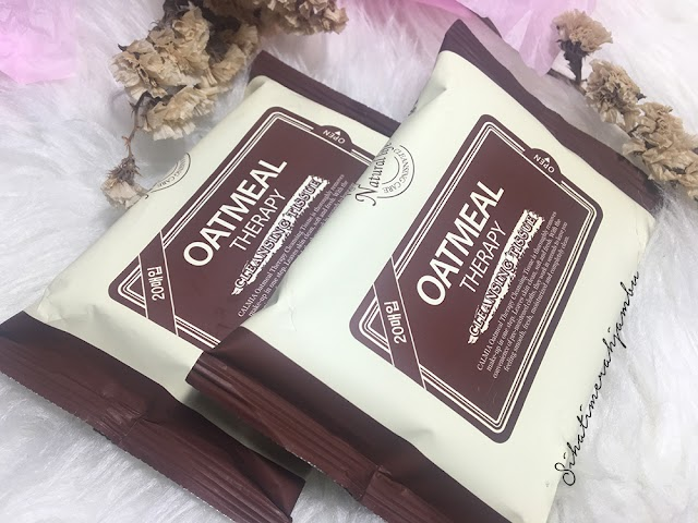 Review   Tisu Basah Oatmeal Therapy Cleansing Tissue