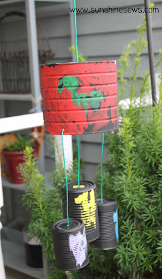 Tin can wind chimes