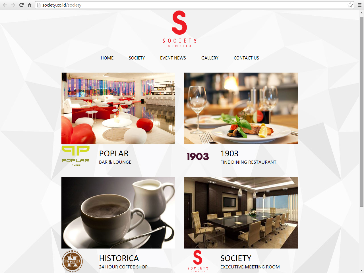 Society Complex's Website