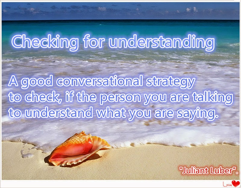 Definition Of Checking For Understading Some Expression To Checking