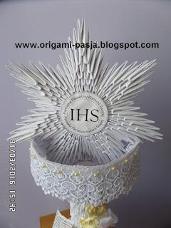 Pamiatka Komunijna - kielich origami modułowe