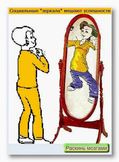 Зеркала мешают успешности