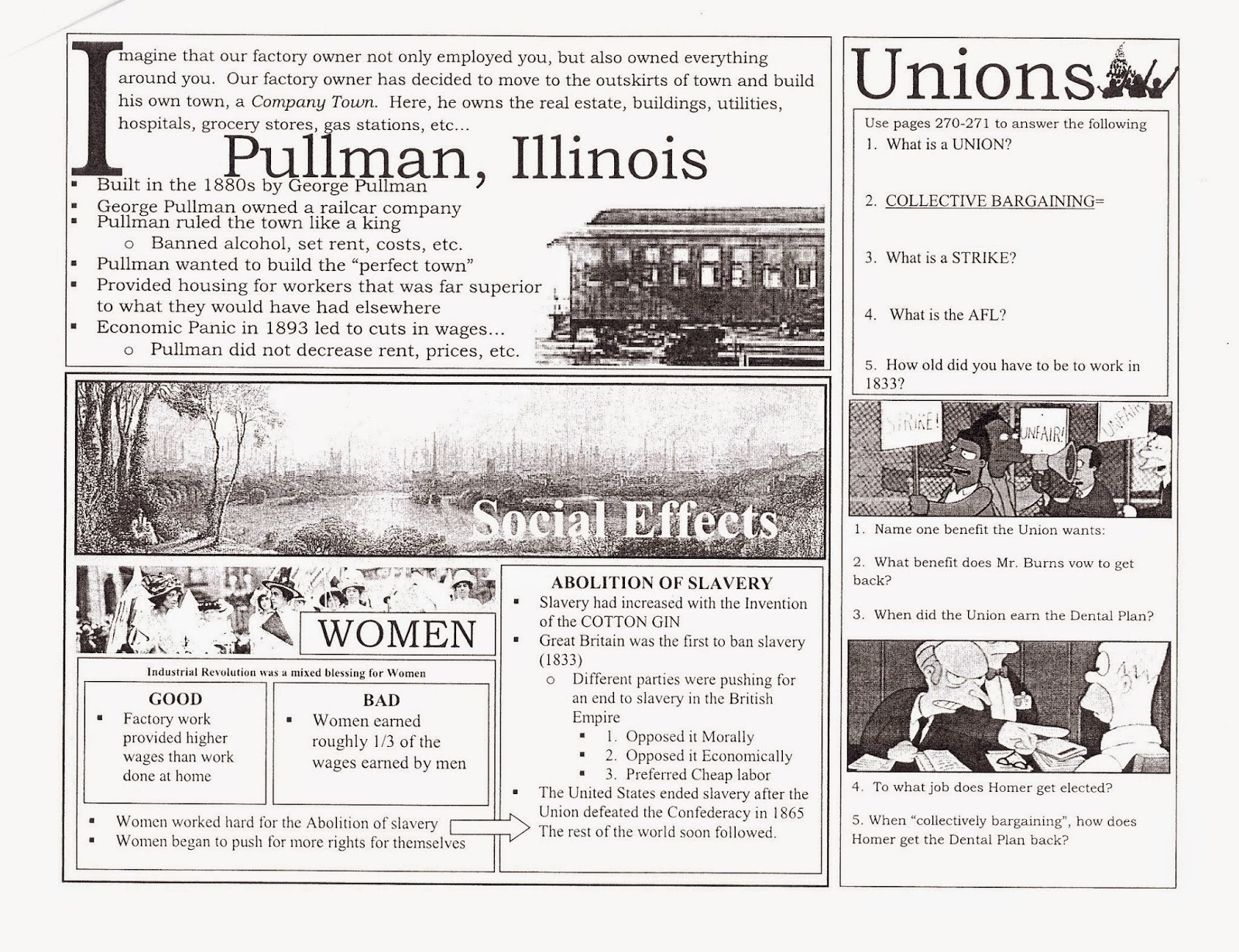 Mr E S World History Page Industrial Revolution Project