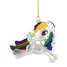 MLP Glass Christmas Ornament Rainbow Dash Figure by Kurt Adler