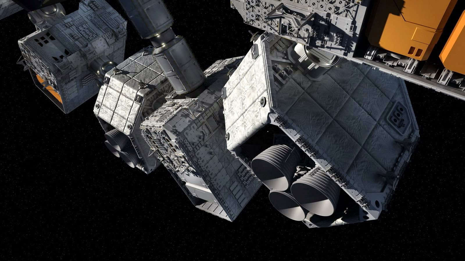Soaring INTERSTELLAR Spaceship Concept Art by Steve Burg
