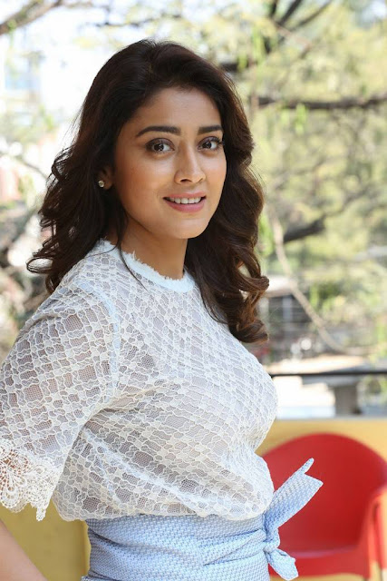 Shriya Saran Stills At Gayatri Movie Promotions