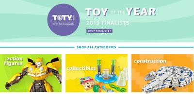 Финалисты премии лучшие игрушки 2019 года TOTY Awards