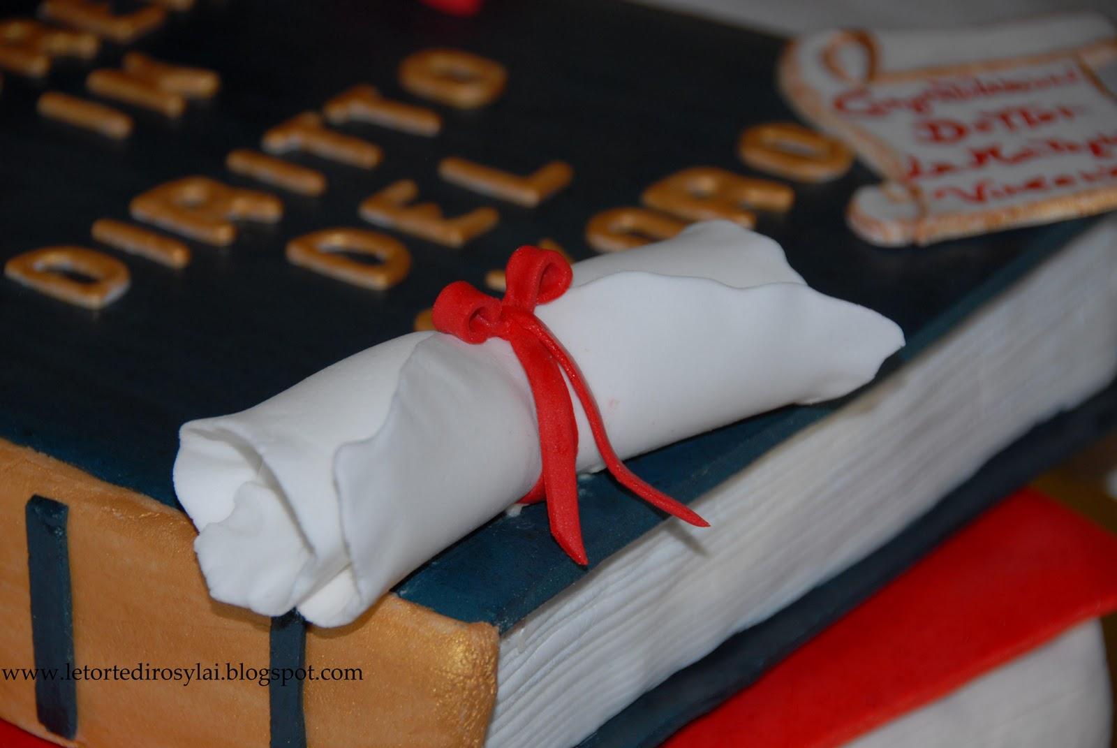 Favoloso LE TORTE DI ROSY LAI: Torta di laurea: libri,tocco e pergamena EC64