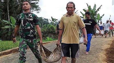 Buktikan di Lokasi TMMD, Bersama Rakyat TNI Kuat