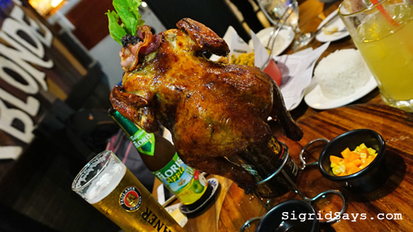 Brewery Gastropub Iloilo restaurant - chicken in a beer can