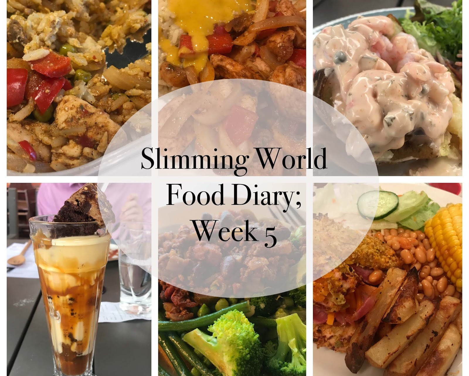 my slimming world food diary