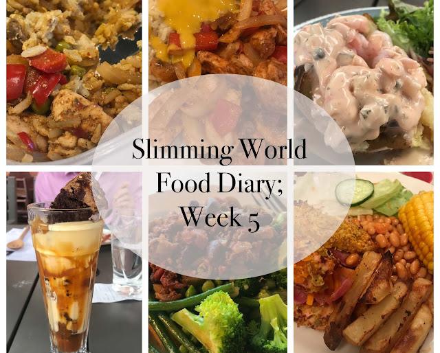Slimming World Food Diary; Week 5