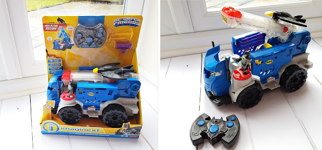 Imaginext DC Super Friends RC Mobile Command Centre before and after unboxing
