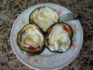 Rondelle di melanzane alla parmigiana