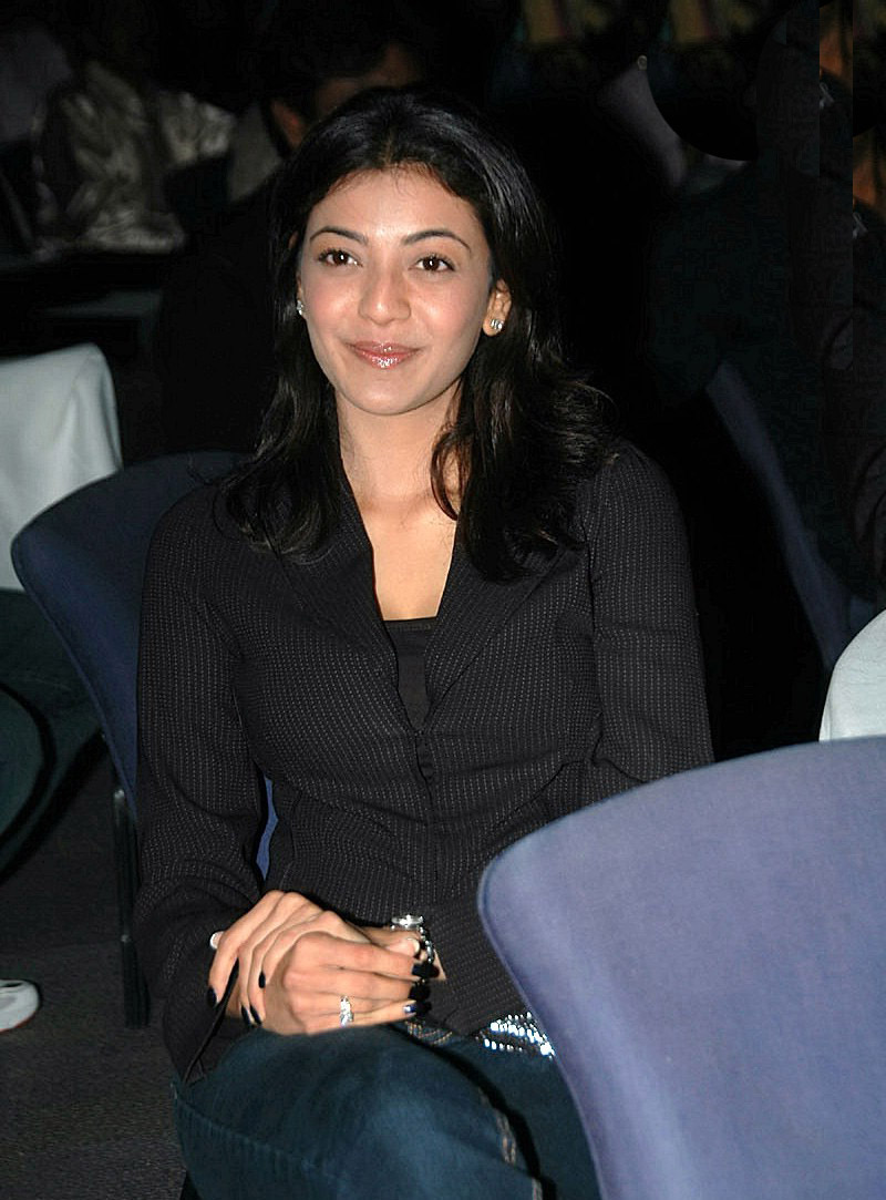 Kajal Agarwal Stills In Black Shirt