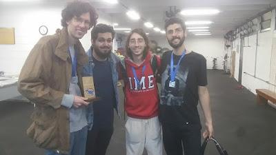 tIME Euwe++ (e.p.d.): Marius, Paulo, Tauã e Caio. Marcelo não ficou para a premiação