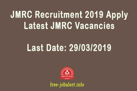 JMRC Recruitment 2019 Apply Latest JMRC Vacancies Last Date: 25.02.2019: Invited applications for 32 Senior Level positions