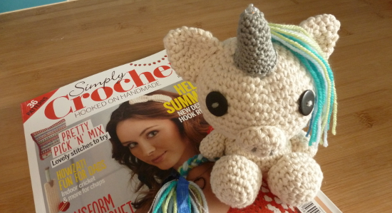Simply Crochet Unicorn Amigurumi Stuffed Plush Toy