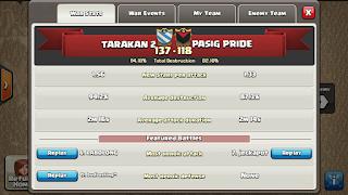 Clan TARAKAN 2 vs PASIG PRIDE , TARAKAN 2 Victory
